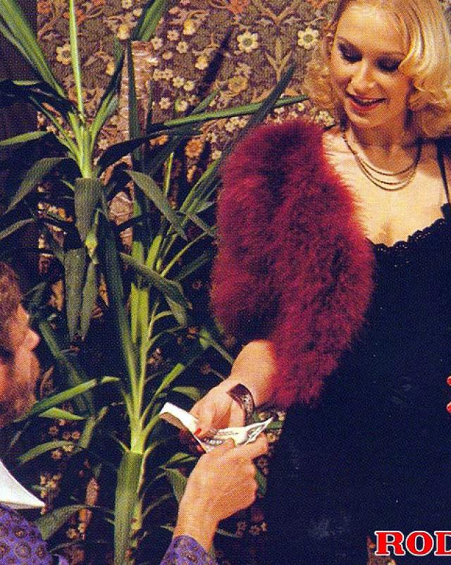 Винтажная блондинка восхищает минетом и аналом на групповушке