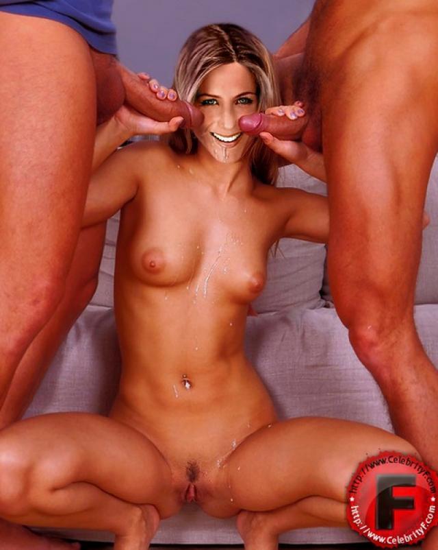 Шалунья Jennifer Aniston в жестком групповом сексе