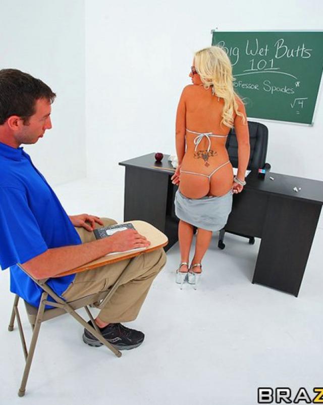 Горячая училка требует от студента анального секса