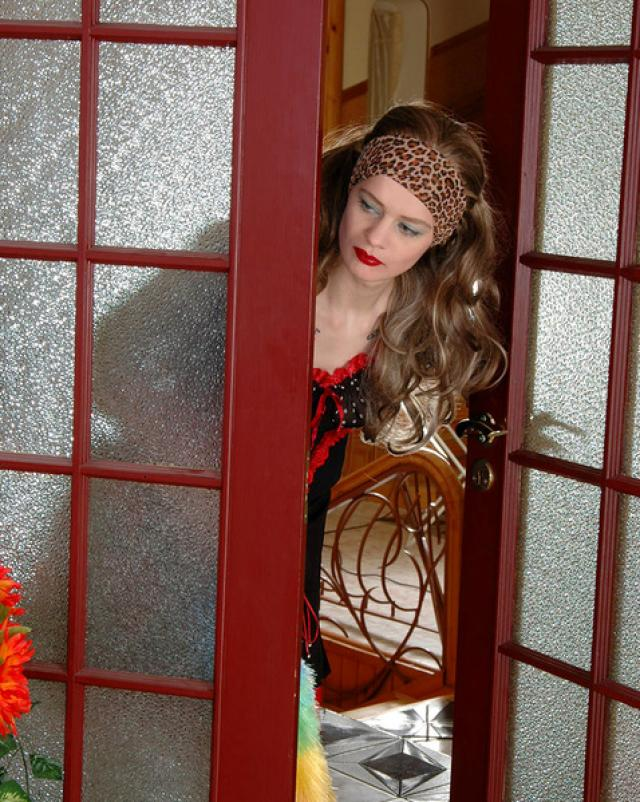 Русская красавица в колготках трахалась со зрелой лесби