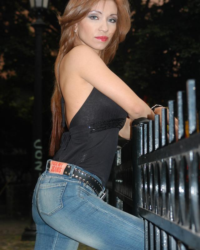 Русская девушка с хорошей задницей