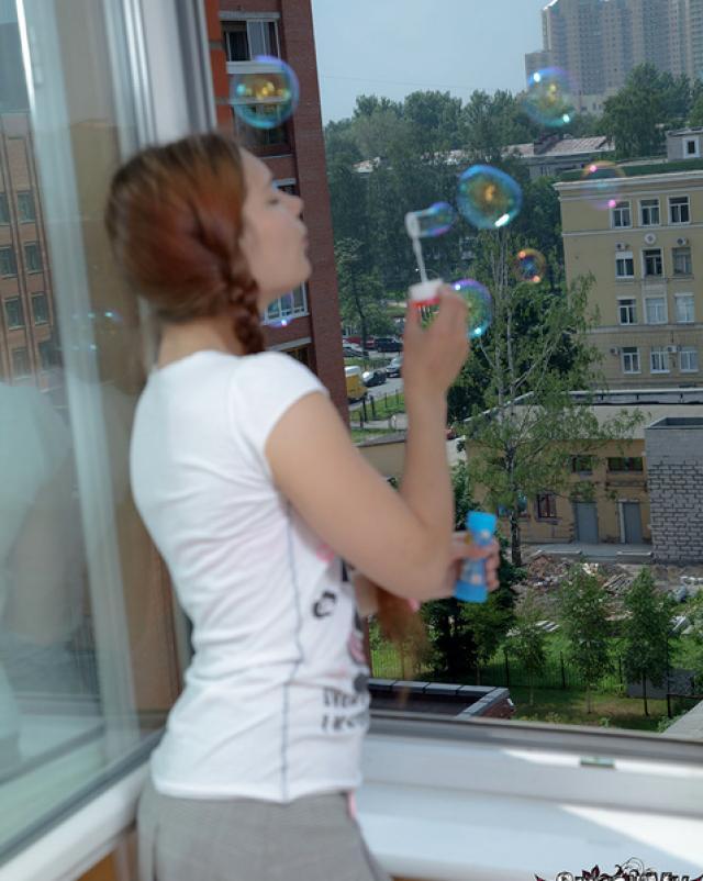 Русская студентка с косичками жестко ебется в киску