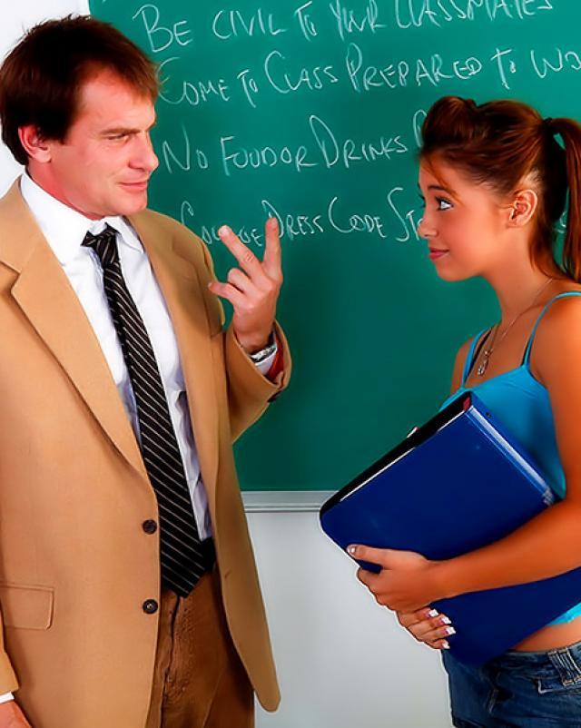 Учитель географии наказал студентку в выбритую писю
