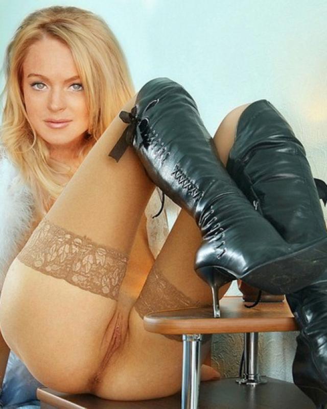 Линдси Лохан трахается в анальное отверстие на фейковых фото