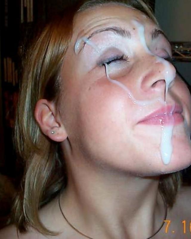 Сладкие девушки получают много спермы на лица